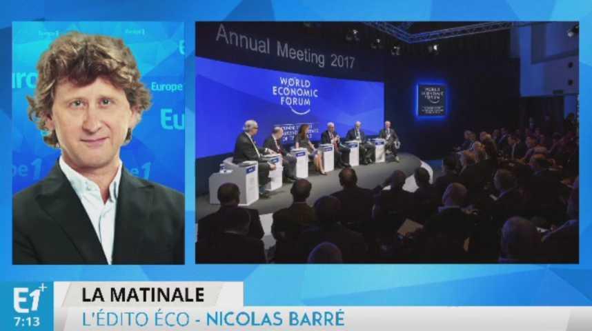 Illustration pour la vidéo Donald Trump : le grand absent dont tout le monde parle à Davos