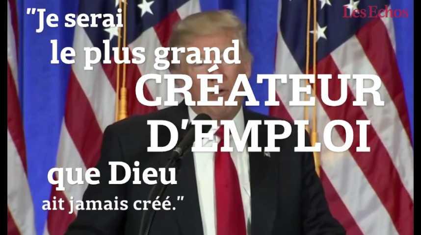 Illustration pour la vidéo Les 5 phrases à retenir du 1er discours du président-élu Trump