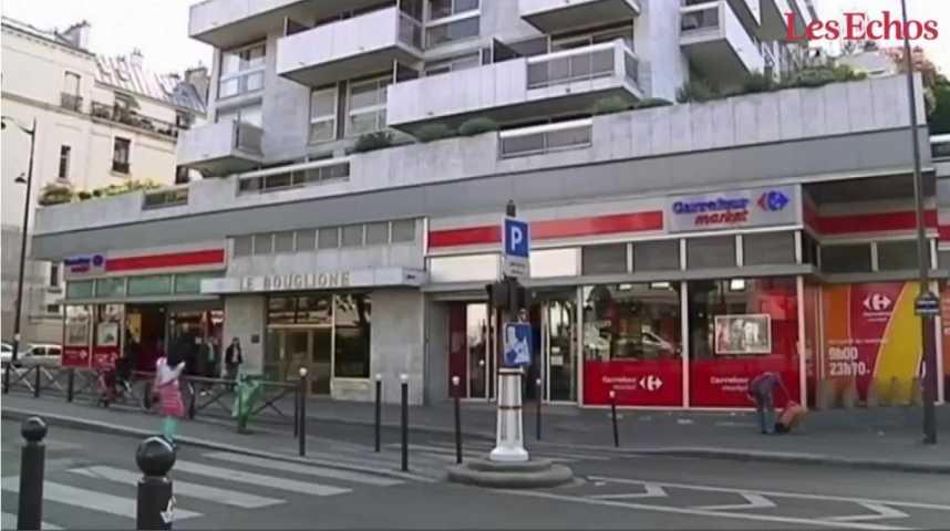 Illustration pour la vidéo La « déconsommation » sonne à la porte des supers et hypers français