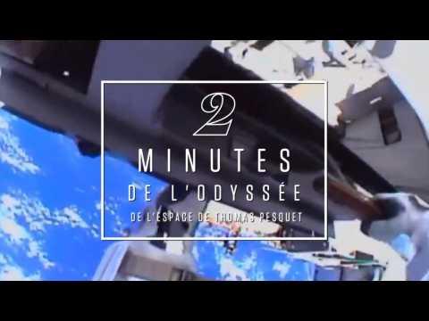 2 minutes de l'Odyssée spatiale de Thomas Pasquet remixée