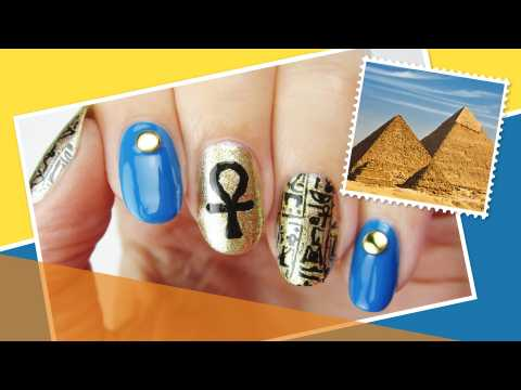 Cairo Inspired Nail Art ∞ The World At Your Fingertips w/ cutepolish
