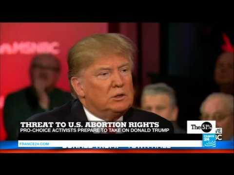 US - Pro-choice activists prepare to take on Donald Trump