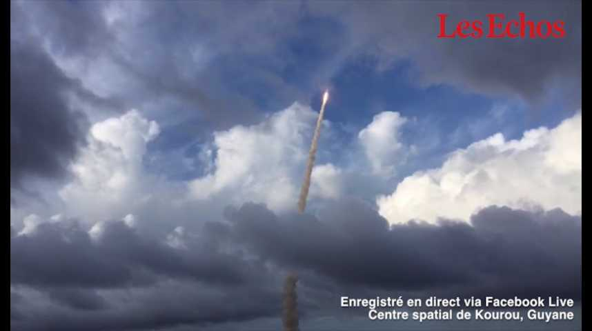 Illustration pour la vidéo Ariane 5 : revivez le 7e et dernier lancement de l'année