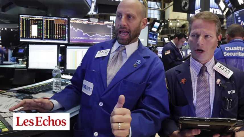 Illustration pour la vidéo Le Dow Jones sur le toit du monde