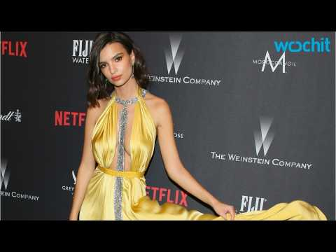 Emily Ratajkowski Suffers Wardrobe Malfunction at Golden Globes After-Party