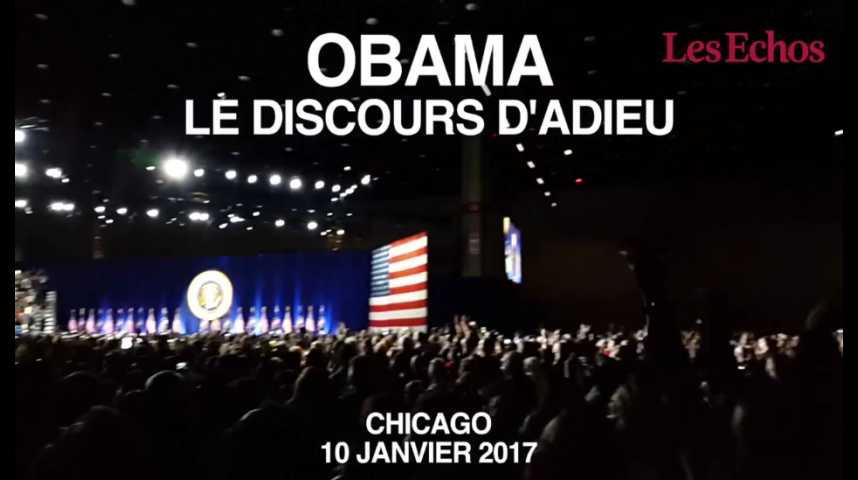 Illustration pour la vidéo Obama : au coeur du McCormick Place pour le discours d'adieu