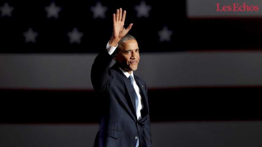 Illustration pour la vidéo Les temps forts du discours d'adieu de Barack Obama