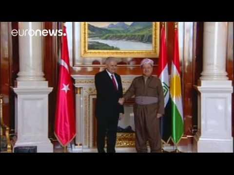 Turkish PM meets Iraqi Kurdish leader in Erbil