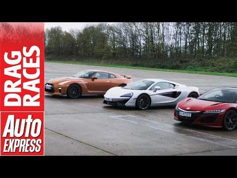 McLaren 540C vs Honda NSX vs Nissan GT-R drag race: plucky Brit takes on Japanese beasts