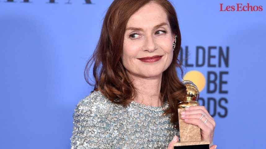 Illustration pour la vidéo Isabelle Huppert récompensée aux 74e Golden Globes
