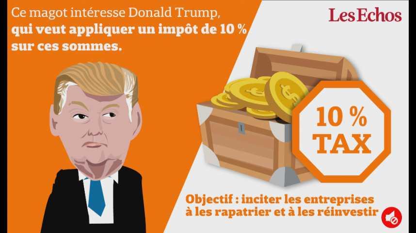 Illustration pour la vidéo Trump lorgne les milliards offshore des entreprises américaines