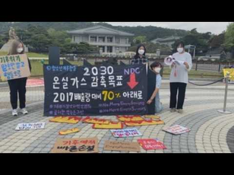 Protest in Seoul against climate change
