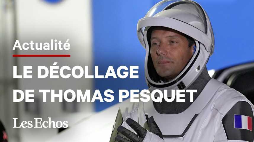 Illustration pour la vidéo Les images du décollage de Thomas Pesquet vers la station spatiale internationale