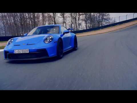 The new Porsche 911 GT3 in Shark Blue Driving Video