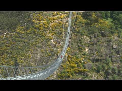Don't look down: Portugal opens world's longest suspension footbridge