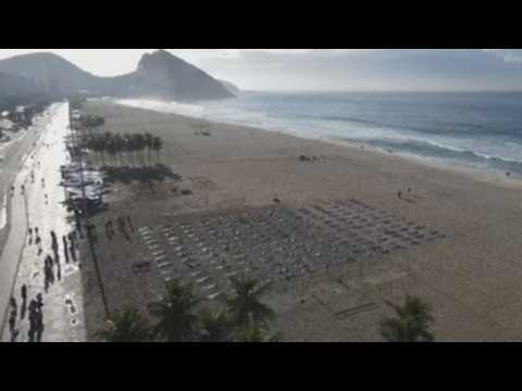 Copacabana rememebers the 400,000 deaths from Covid-19 in Brazil