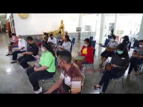 Indonesian teachers, senior citizens receive AstraZeneca COVID-19 vaccine in Jakarta (C)
