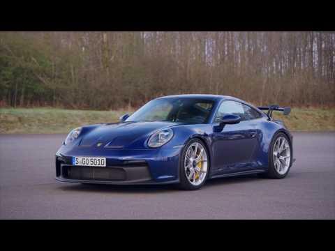 The new Porsche 911 GT3 Design in Gentian Blue