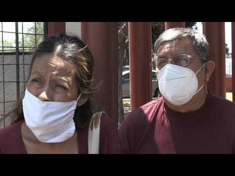 Victims' relatives react after Mexico City metro accident