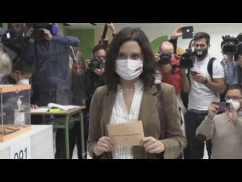 President of Madrid Community, opposition leader vote in regional elections