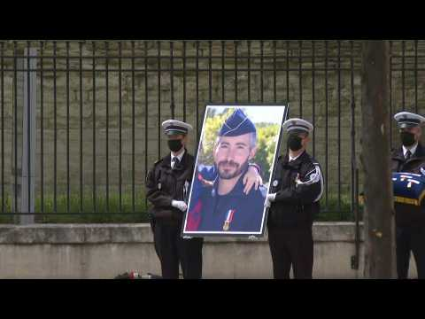 France pays national tribute to officer killed during drugs raid