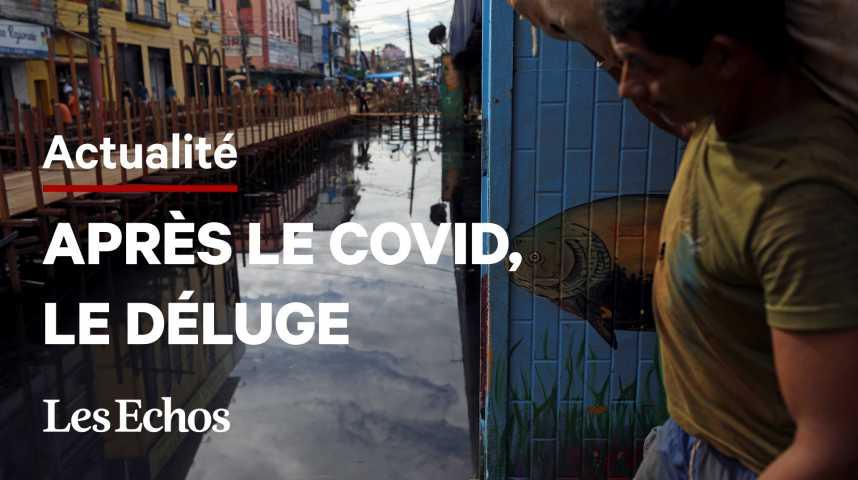 Illustration pour la vidéo Au Brésil, la ville-épicentre de la pandémie de Covid est sous l'eau