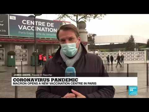 Coronavirus pandemic in France: Macron inaugurates new mass vaccination centre