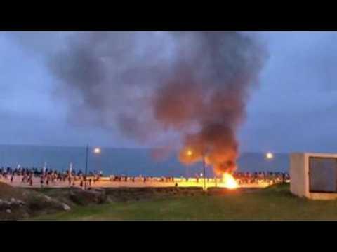 Moroccan migrants riot near border with Ceuta