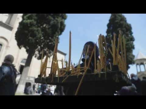 Orthodox celebrate Palm Sunday in Georgia