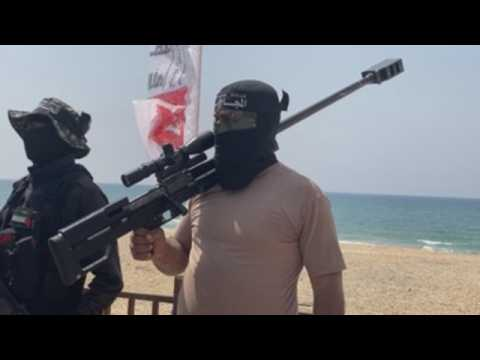 Palestinian factions carry out military drill in Gaza City