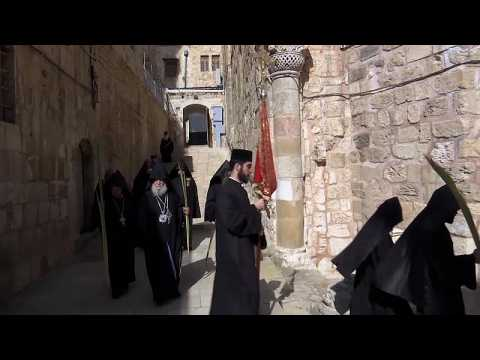 Orthodox Christians mark Palm Sunday in Jerusalem