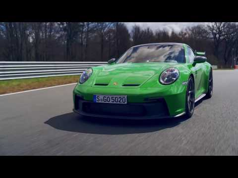 Porsche 911 GT3 (PDK) in Python Green Driving Video