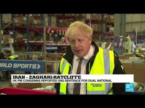 UK PM Johnson criticises new jail sentence for British-Iranian aid worker