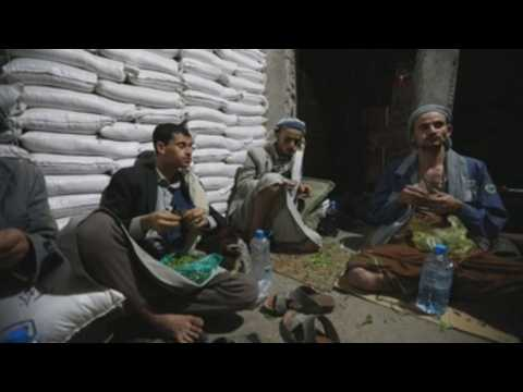 Chewing khat leaves in Yemen to pray on the holy nights of Ramadan