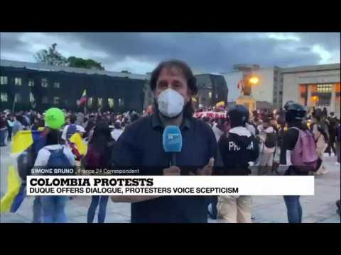 Colombia's protesters keep pressure as President Duque urges rejection of violence after deaths