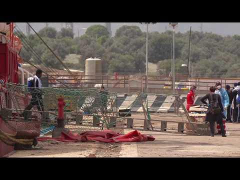 Ocean Viking disembarks 236 rescued migrants in Sicily