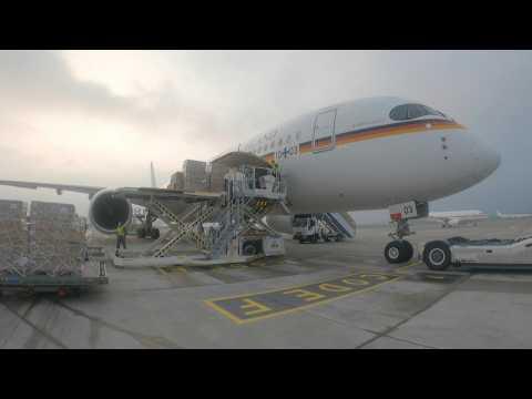 German military flies aid supplies to virus-hit India