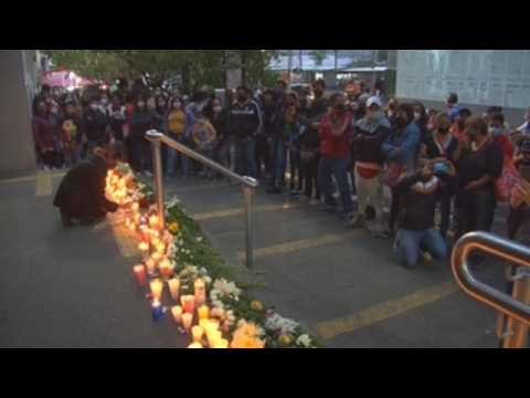 Vigil held in Mexico City to demand justice for metro accident victims