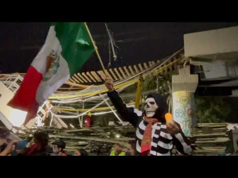 Vigil for victims of Mexico metro disaster
