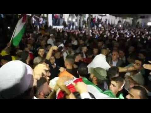 Funeral of young Palestinian killed in clashes with Israeli Army in Hebron