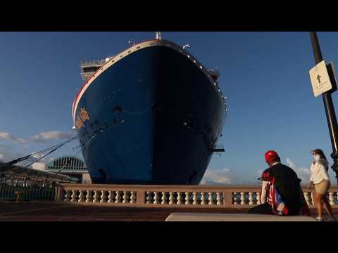 The first cruise ship since the pandemic arrives in Puerto Rico