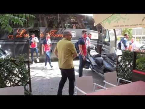 Spanish handball national team celebrates bronze medal in restaurant in Madrid