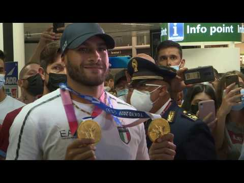 Star of Italy's Olympic squad returns to hero's welcome