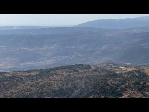 Mount Dov army base overlooking villages in southern Lebanon