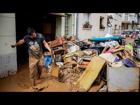 Heavy floods on Spain's eastern coast damage homes and businesses