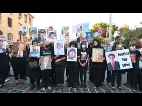 Relatives commemorate Beirut port explosion victims