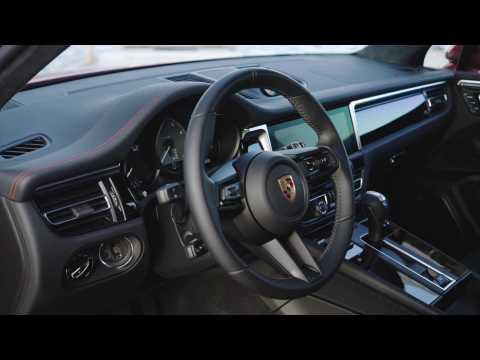 The new Porsche Macan in Papaya Metallic Interior Design