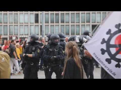 Protest against COVID-19 measures held in Berlin despite ban on protests due to health concerns