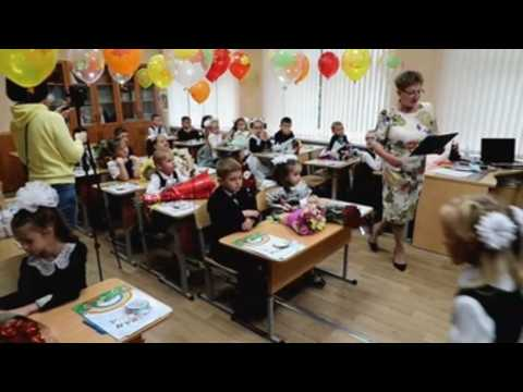 Back to school ceremony for the children of Moscow