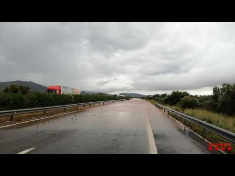 Alcanar: Flash floods hit eastern Spain after torrential rain and storms